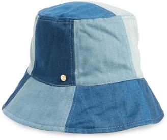 BCBGMAXAZRIA Patchwork Denim Bucket Hat