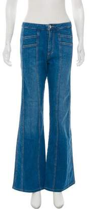 Veronica Beard High-Rise Flare Jeans