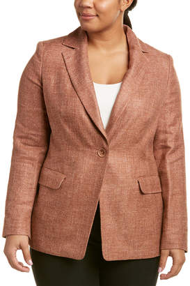 Marina Rinaldi Plus Cannes Silk, Linen & Wool-Blend Blazer
