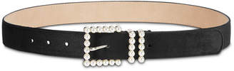 INC International Concepts I.n.c. Imitation-Pearl Velvet Belt