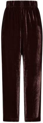 Eileen Fisher Velvet Wide-Leg Trousers