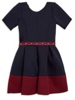 Zoe Girl's Star Struck Annie Border-Hem Knit Dress