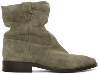 Isabel Marant Brown Cryston Velvet Boots