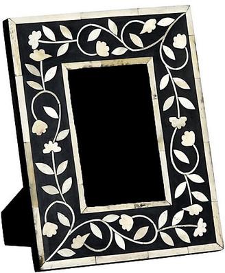 Mela Artisans 4x6 Imperial Beauty Frame - Bone/Black