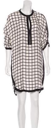 Isabel Marant Ãtoile Silk Geometric Print Dress White Ãtoile Silk Geometric Print Dress