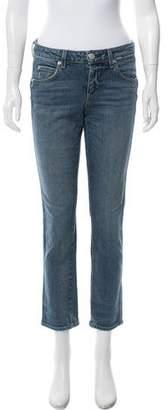 Amo Mid-Rise Distressed Jeans