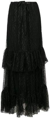 Moschino tiered lace maxi skirt