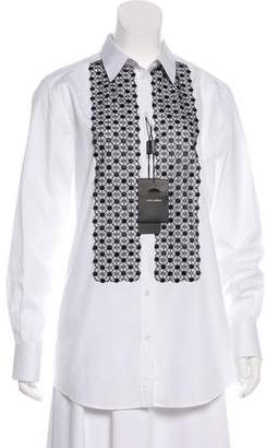 Dolce & Gabbana Lace-Trimmed Button-Up Tunic w/ Tags