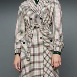 Maje Straight plaid coat