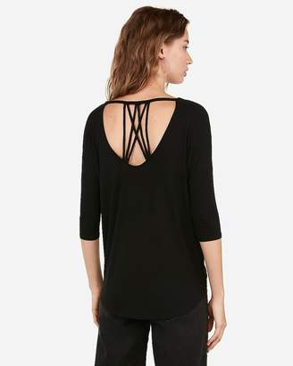 Express One Eleven Strappy Back V-Neck London Tee