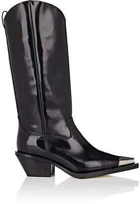 Helmut Lang Women's Spazzolato Leather Cowboy Boots