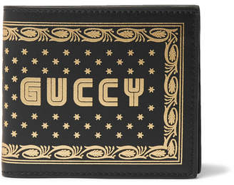 Gucci Printed Leather Billfold Wallet