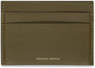 Mansur Gavriel Calf Credit Card Holder - Olive