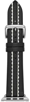 Kate Spade Black Leather Apple Watch Strap 38mm
