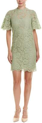 Valentino Lace Silk-Blend Shift Dress