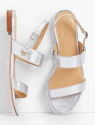Talbots Keri Double Strap Sandals - Metallic