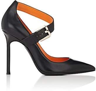 Walter De Silva Women's Asymmetric-Strap Leather Pumps - Black