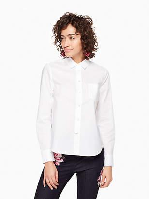 Kate Spade Delicate Poplin Shirt, Fresh White - Size M