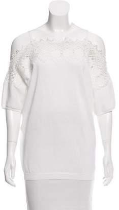 Agnona Embroidered Off-The-Shoulder Top