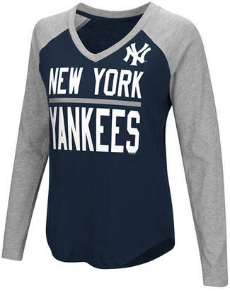 New York Yankees G-iii Sports Women's Power Hitter Raglan T-Shirt