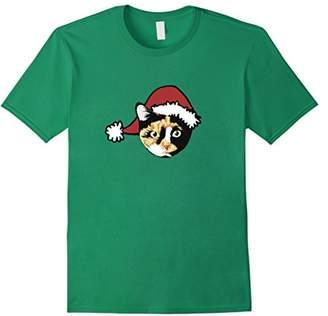 Calico Christmas cat shirt catmas t-shirt with Santa hat