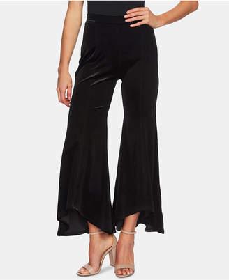 CeCe Velvet Flared Pull-On Pants