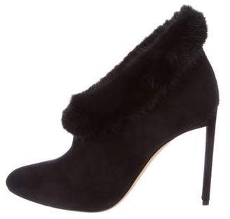 Christian Dior 2016 Fisson Fur-Trimmed Booties