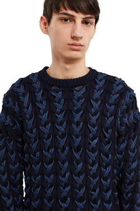 Y/Project Woven Denim Sweater