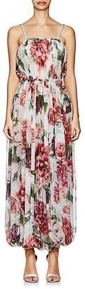 Dolce & Gabbana Women's Peony-Print Silk Jumpsuit