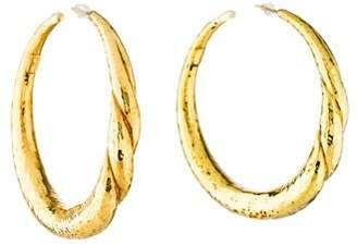 Ippolita 18K Hammered Hoop Earrings