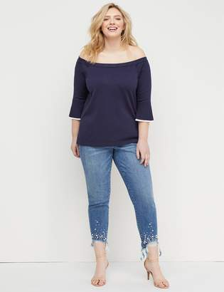 Lane Bryant Bell-Sleeve Off-the-Shoulder Sweater