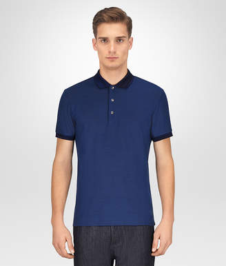 Bottega Veneta COBALT COTTON POLO