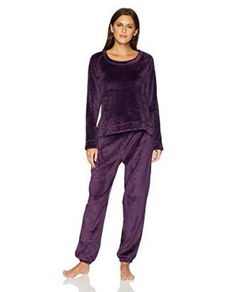 Mae Women's Sleepwear Marshmallow Fleece Pullover Top and Jogger Pajama Set