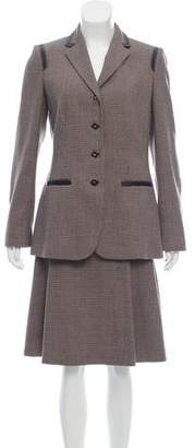 Les Copains Houndstooth Wool Skirt Suit w/ Tags