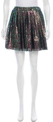 House of Holland Flared Metallic Skirt w/ Tags