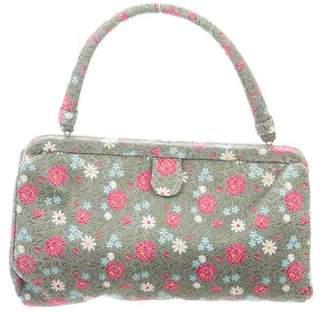 Manolo Blahnik Vintage Floral Frame Bag