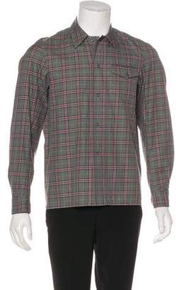 Number Nine Number (N)ine Plaid Snap-Front Shirt