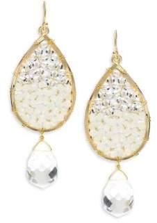 Panacea Crystal & Beads Teardrop Earrings