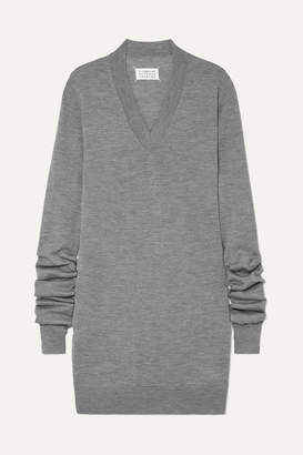 Maison Margiela Wool Mini Dress - Gray