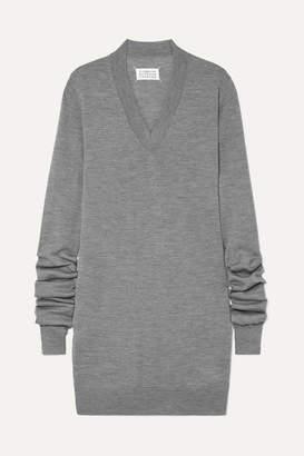 Maison Margiela Wool Mini Dress - Gray