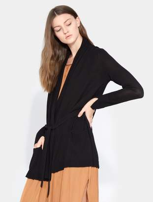 Halston Draped Neck Cardigan