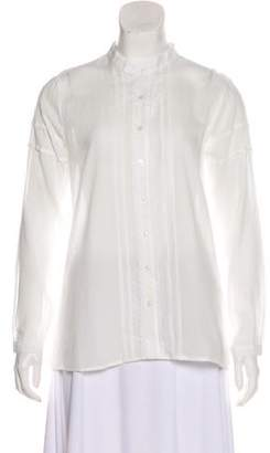 Anine Bing Embroidered Button-Up Top