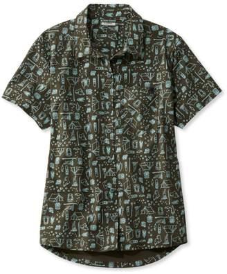 L.L. Bean L.L.Bean Beach Cruiser Summer Shirt, Short Sleeve Print