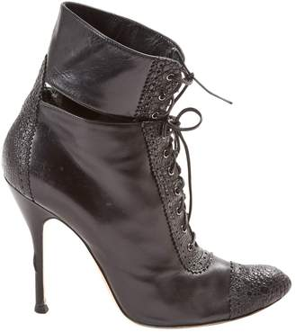 Gianvito Rossi Leather lace up boots