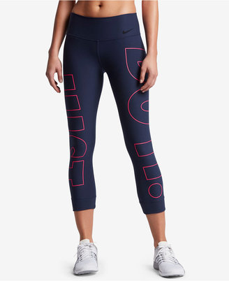 Nike Power Legend Cropped Graphic Leggings $65 thestylecure.com