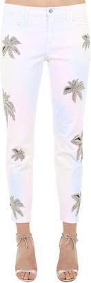 Philipp Plein Embellished Cotton Blend Denim Jeans