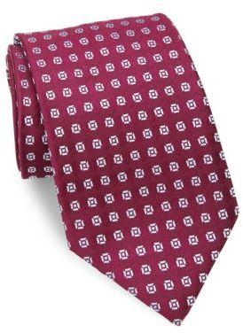 CharvetCharvet Abstract Floral Silk Tie