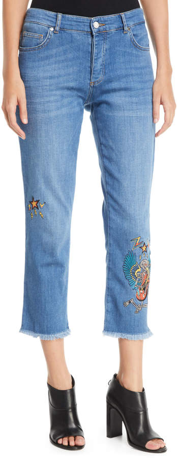 Zadig & Voltaire Brodie Embroidered Boy-Fit Jeans