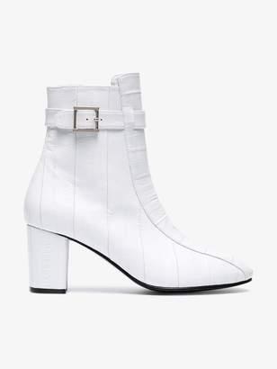 Sabrina Newbark White 75 leather boots