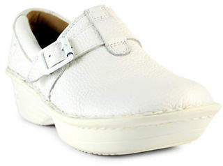 Nurse Mates Gelsey Buckled Leather Clogs